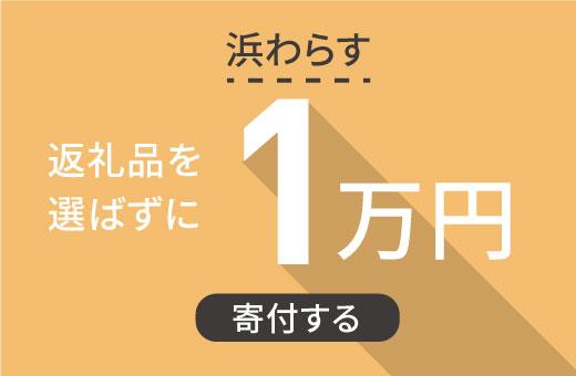 返礼品を選ばずに【浜わらす】に1万円寄付する