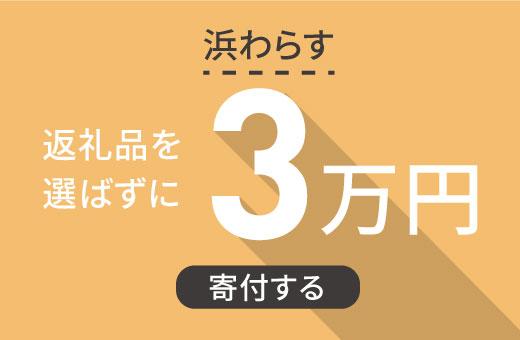返礼品を選ばずに【浜わらす】に3万円寄付する