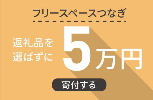 返礼品を選ばずに【フリースペースつなぎ】に5万円寄付する